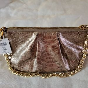 Chico's Aja Clutch - New with tags Bronze color